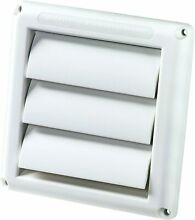Deflecto Supur Vent Louvered Outdoor Dryer air Vent Cover White 4  Hood  6  x 6