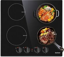 Karinear 4 Burner Induction Cooktop 24  Built in Electric Smoothtop Stovetop