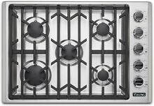 Viking VGSU53015BSSLP 30 Inch Professional 5 Series Gas Cooktop with 5 Burners