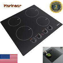 Karinear 4 Burner Induction Cooktop 24  Built in Electric Smoothtop Stove 7000W