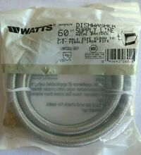 Watts Dishwasher Supply Line 60  Metal Braided New In Package