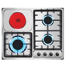 24 x20  Gas Cooktops 3 Burner Drop in Propane Natural Gas Cooker 1 Electric Stov