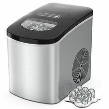ORFELD  Portable Ice Maker Machine Countertop 26Lbs 24H Self cleaning w  Scoop