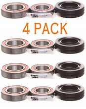 4 PACK  Whirlpool Cabrio Bravo Oasis Washer Tub Bearing   Seal Kit W10435302