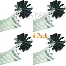 4 Pack Dryer Duct Cleaning Kit 12  Clear Clean Flexible Cleaner Vent Lint Brush