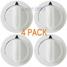 4 PACK  Dryer Timer Control Knob White for GE WE01X20374 PS8769912 AP5805160