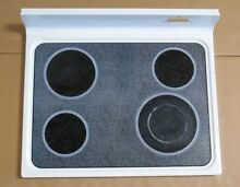 GE Kenmore Range Glass Cooktop Cook Top WB62X10011 WHITE JBP78WY3WW HT218854G