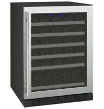 Allavino 56 Bottle Built In Wine Cooler Refrigerator Stainless Steel Glass Door