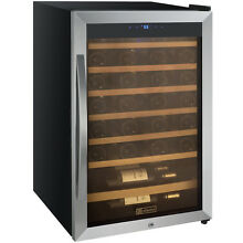 Allavino 48 Bottle Wine Cooler Refrigerator Stainless Steel Glass Door