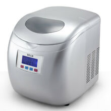 Portable Ice Cube Maker Automatic Compact LCD Display Travel Home w  LCD  Silver