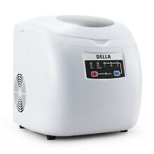 Portable Ice Maker w Easy Touch 26lbs Per Day Counter Top Automatic White Silver