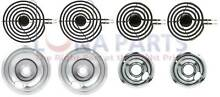 BM1 Range Stove Burner Element w  Chrome Pans Bowls Set 2 of MP21MA 2 of MP15MA