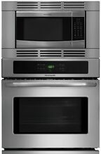 Frigidaire 27  3 Piece Stainless Steel Electric Wall Oven Microwave Combo
