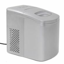 Electric Ice Maker Machine Portable Counter Drink all day Ice Maker Silver