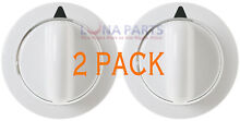 2 PACK  Dryer Timer Control Knob White for GE WE01X20374 PS8769912 AP5805160