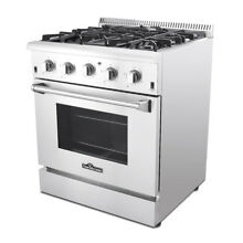 30  Professional Gas Range Oven 4 Burner Stainless Steel Automatic re ignition