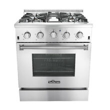 Thor Kitchen HRG3080U 30  Professional Stainless Steel Gas Range with 4 Burners