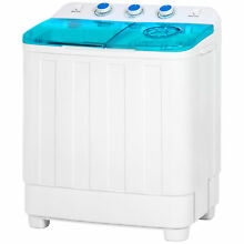 Mini Twin Tub Portable Compact Washing Machine Spin Dry Cycle 12lbs capacity
