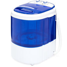 Portable Compact Mini Twin Tub Washing Machine and Spin Cycle w  Hose  Blue