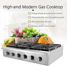 TOP 36  Gas Hob Stainless Steel 6 Burners Built in Cooktop 2 Years Warranty H6W0