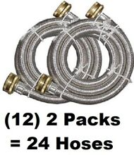 12  Watts  2 Pack 3 4  x 3 4  x 60  Stainless Steel Washing Machine Hoses