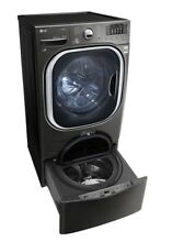 LG WM4370HKA 4 5CF Washing Machine with 1 0CF Sidekick Pedestal Washer Black