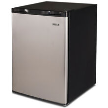 2 6 cu ft Refrigerator Mini Dorm Cooler Compact Fridge Freezer Stainless Steel