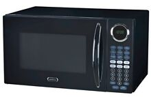 Sunbeam 900W 0 9CF Countertop Microwave Oven Black SGB8901  Pickup ONLY