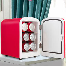 Compact Retro Red Mini Fridge Portable Cooler Warmer Hot Cold Car Boat Office
