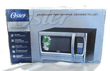Oster 1 3 Cu Ft  1100W Microwave Oven 10 Powers Stainless Black OGZF1301