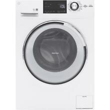 GE GFW148SSLWW 2 4CF High Efficiency Stackable White Front Loading Washer