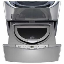 LG SideKick WD100CV 1 0CF 6 Cycle Pedestal Washer Graphite Steel