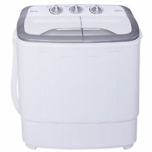 Portable Compact Top Load Mini Twin Tub Clothes Washing Machine Washer Spin Dry