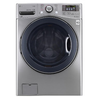 LG WM3770HVA 4 5CF 12 Cycle Front Loading Washing Machine Graphite Steel