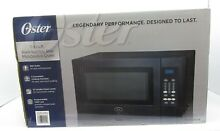 Oster 0 9 cu  ft  Black Stainless Steel Microwave Oven