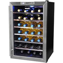 18 Bottle Stainless Steel Wine Cooler Wine Refrigerator AW 181E by NewAir