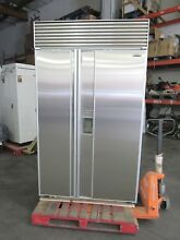 SUB ZERO 48  WATER ICE DISPENSER REFRIGERATOR PERFECT STAINLESS DOORS   CHEAP