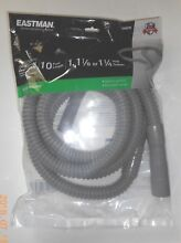 Case of 6   10 ft Washing Machine Corrugated PVC Drain Hose  Ext Length  0506269