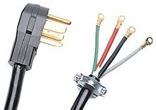 Certified Appliance Accessories 4 Wire Closed Eyelet 30 Amp Dryer Cord 10ft NEW