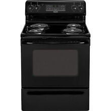 Hotpoint   5 0 Cu  Ft  Self Cleaning Freestanding Electric Range   Black