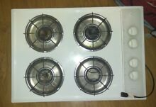 30  Kenmore Gas Cooktop White 4 x Burners w Power Burner SEARS