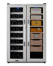 Whynter Freestanding 3 6 cu  ft  Wine Cooler and Cigar Humidor Center CWC 351DD