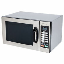 Panasonic 1 3 cu  ft  Stainless Microwave  1100 watts  Genius Sensor
