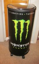 GREEN MONSTER ENERGY DRINK NON ELECTRIC COOLER ON WHEELS MAN CAVE  LOCAL PICKUP