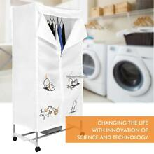 Compact Electric Laundry Clothes Dryer Rack Energy Saving Wheel Home Wardrobe