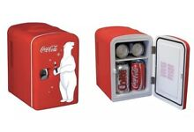 Nostalgic Mini Fridge Coca Cola Polar Bear Logo Portable Cooler Dorm Office