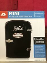 Igloo 6 Can Mini Fridge Cooler Retro Black