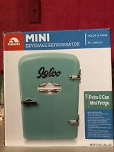 Igloo Retro 6 Can Turquoise Blue Mini Fridge Compact Portable Refrigerator