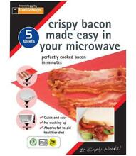Microwave Crispy Bacon Sheets   Pack of 5   TOASTABAGS