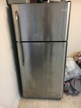 Stainless Steel Frigidaire Refrigerator  Great Condition  All Pieces Included